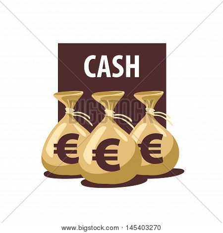 A bag of money vector icon. Business and finance. Euro sign
