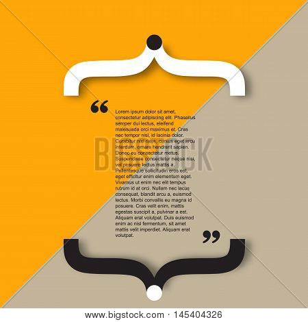 Quote citation Typographical Template, vector design. Light color version.