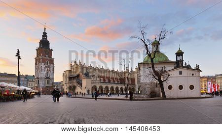 KRAKOW, POLAND - APRIL 03, 2015: KRAKOW, POLAND - APRIL 03, 2015: Theatre  in the old town of Krakow, Poland on April 03, 2015. on April 03, 2015.