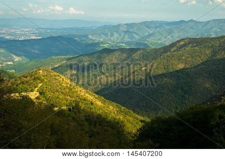 Landscape of Troglav mountain at late summer, west Serbia