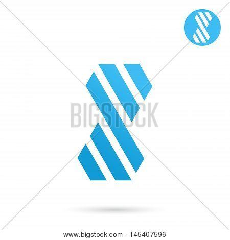 Striped s letter sign 2d logo template infinity vector concept eps 10