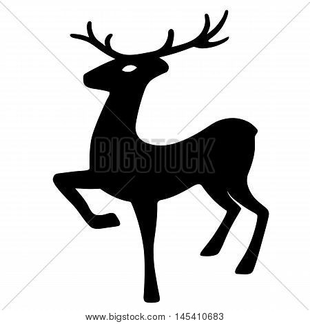 Wonderful deer hoof beats (silhouette) design for Xmas cards banners and flyers vector illustration isolated on white background