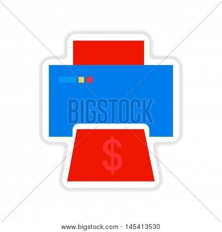 paper sticker on white  background money printing