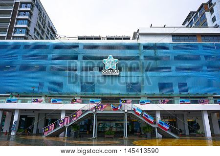 Kota Kinabalu,Sabah-Aug 30,2016:View of the Oceanus Waterfront Mall at Kota Kinabalu,Sabah on 30th Aug 2016.Oceanus Waterfront Mall,one of the premier shopping mall in Kota Kinabalu,Sabah,Borneo.