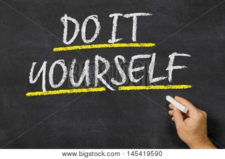 Do It Yourself Written On A Blackboard