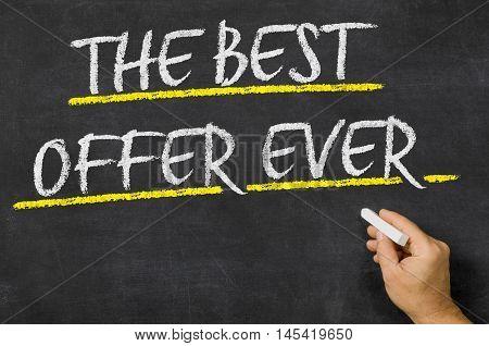 The Best Offer Ever Written On A Blackboard