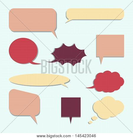 Set of dialogue icon for communication flat design. Vector eps 10