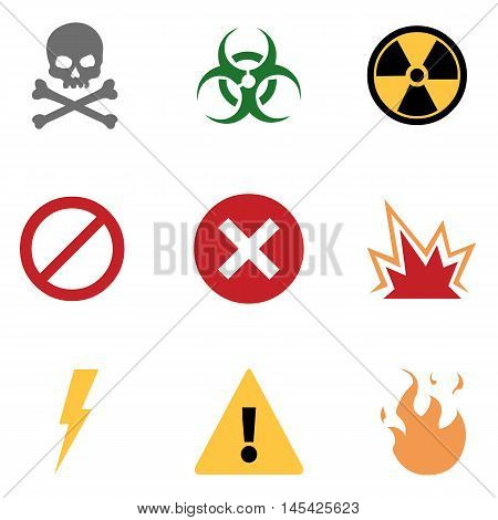 Vector Set Of Warning Icons