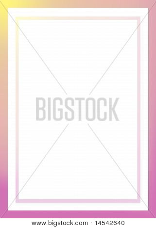 Pink and yellow Border