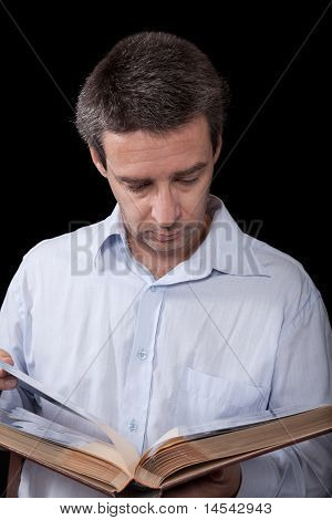 Man With Photograph Album