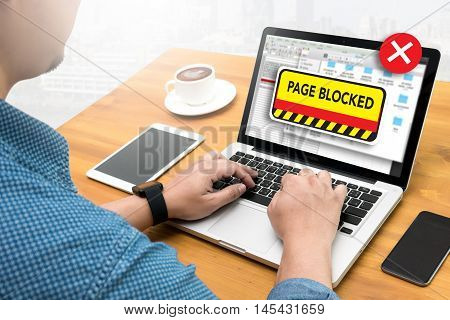 Data Failure Computer Page Blocked Browsing Connection Data Failure