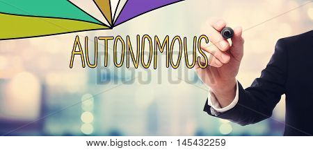 Businessman Drawing Autonomous Concept