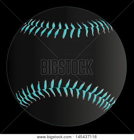 A baseball with stitching on a faded background.