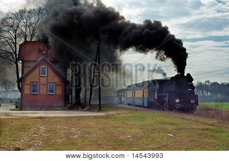 Old Retro Steam Train