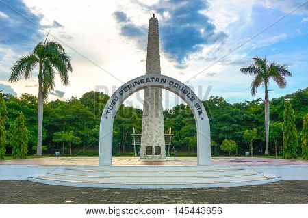 Kota Kinabalu,Sabah-Aug 30,2016:The Double Six Monument is a memorial located at Sembulan area in Kota Kinabalu,Sabah,Malaysia,which plane crash known as the Double Six Tragedy on 6th June 1976.