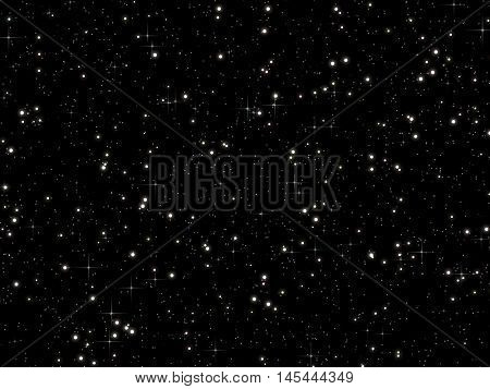 Large and simple star on a black sky.