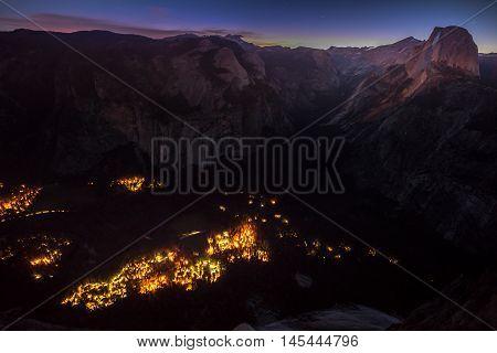 Yosemite National Park Half Dome Early Sunrise