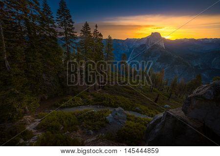 Yosemite National Park Sunrise Glacier Point