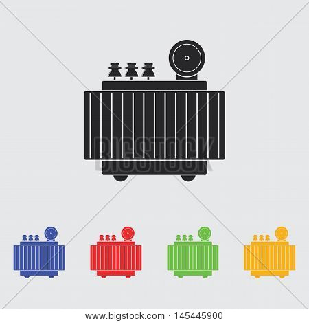 High voltage transformer  vector icon for web and mobile