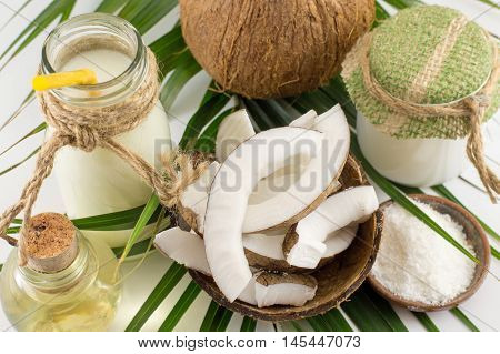 Coconut Products, Fresh Fruit Milk And Oil