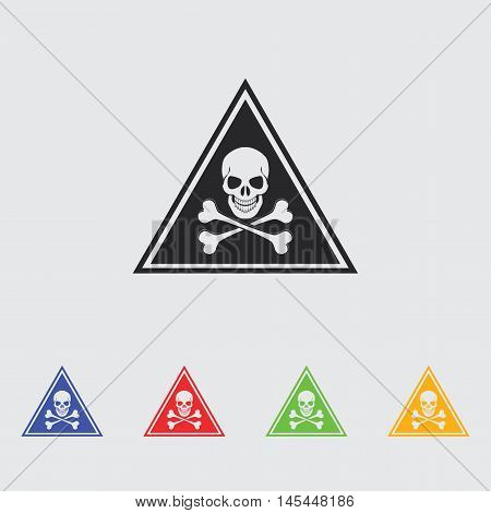 danger high voltage  vector icon for web and mobile