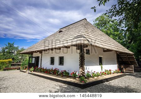 Ion Creanga's memorial house, in Humulesti, Romania. Ion Creanga is a kids story writer. He was born in Moldova.
