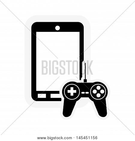 flat design cellphone and game controller icon vector illustration