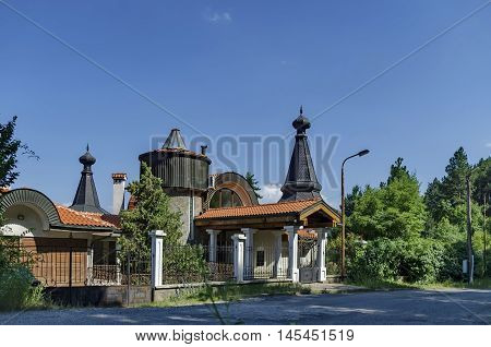House in the green forest at  Hisarlak, Kiustendil  town, Bulgaria