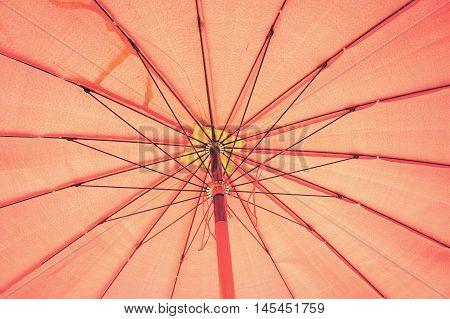 The big red umbrella, big umbrella Texture ,rod umbrella