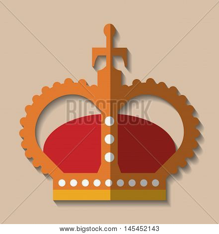 crown king queen gold royal luxury icon. Colorful design. Vector illustration