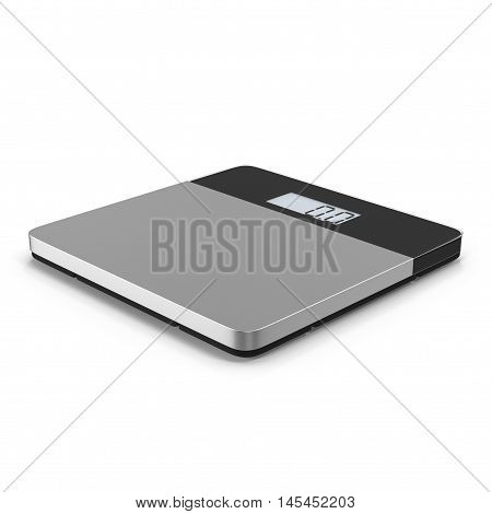Weighing Scales Isolated on white 3D Illustration