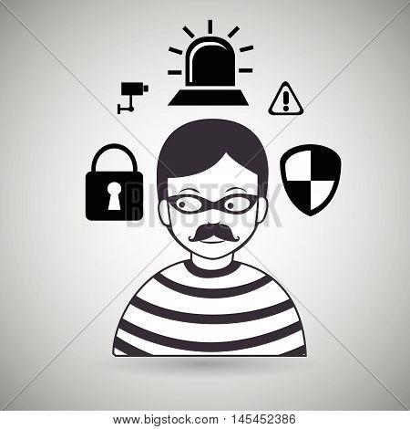 hacker security protection hacker vector illustration eps 10