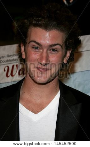 Max Kasch at the Los Angeles premiere of 'Waiting' held at the Mann Bruin Theater in Westwood, USA on September 29, 2005.