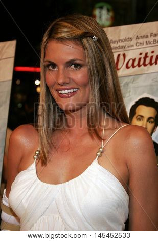 Courtney Hansen at the Los Angeles premiere of 'Waiting' held at the Mann Bruin Theater in Westwood, USA on September 29, 2005.