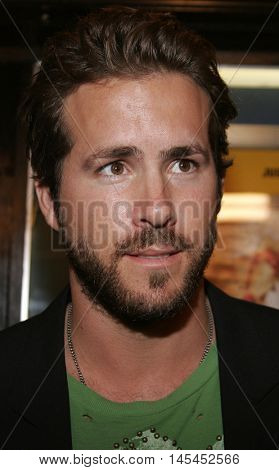 Ryan Reynolds at the Los Angeles premiere of 'Waiting' held at the Mann Bruin Theater in Westwood, USA on September 29, 2005.