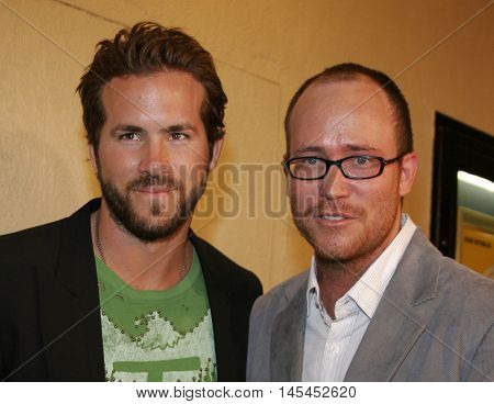 Ryan Reynolds and Rob McKittrick at the Los Angeles premiere of 'Waiting' held at the Mann Bruin Theater in Westwood, USA on September 29, 2005.