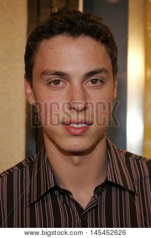 John Francis Daley at the Los Angeles premiere of 'Waiting' held at the Mann Bruin Theater in Westwood, USA on September 29, 2005.