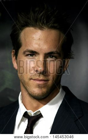 Ryan Reynolds at the World premiere of 'Amityville Horror' held at the Arclight Cinerama Dome in Hollywood, USA on April 7, 2005.
