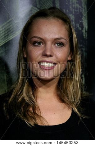 Agnes Bruckner at the World premiere of 'Amityville Horror' held at the Arclight Cinerama Dome in Hollywood, USA on April 7, 2005.