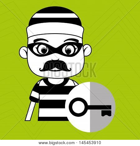 hacker security key vector illustration eps 10