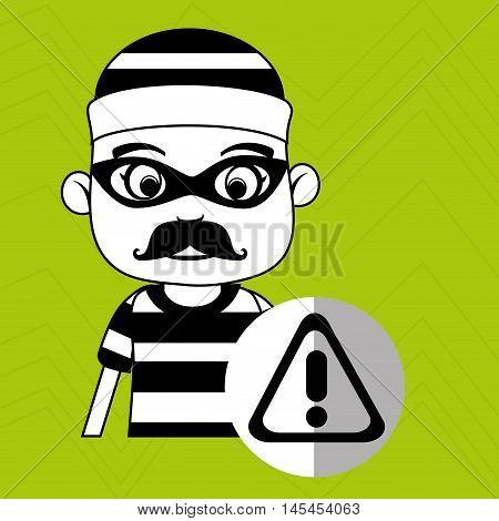 hacker security warning vector illustration eps 10