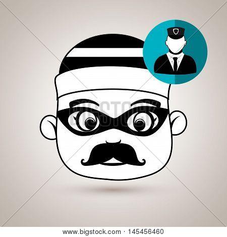 hacker security vigilant vector illustration eps 10
