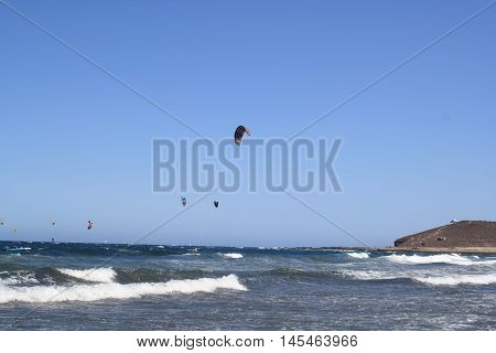 kite surf en la playa de Tenerife
