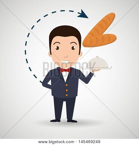 hotel employees avatar icon vector illustration design