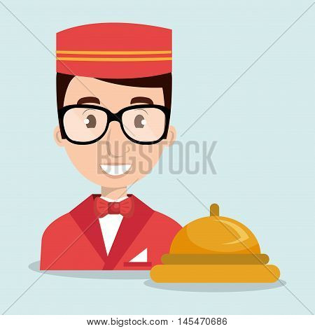 bellman bellhop hotel vector illustratio eps 10