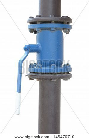 the new metal pipe with a valve