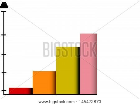 Arrow Graph. Statistics forecasts. oncept for business.