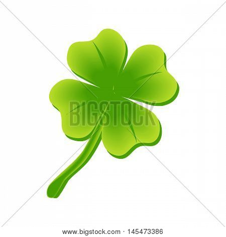 four leaf clover, St Patricks day vector illustration