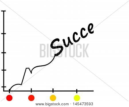 vector growth progress arrow graph. statistics forecasts