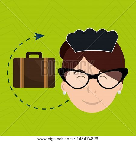 housekeeper maid hotel service vector illustration design
